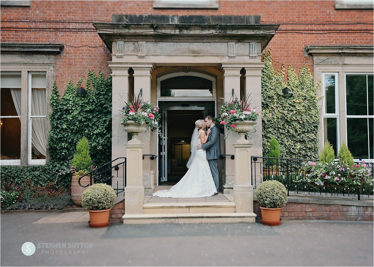 Bride & Groom Arrival at Rodbaston Hall